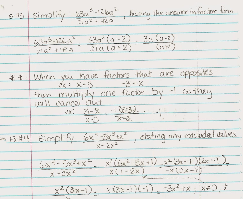 Homework Algebra