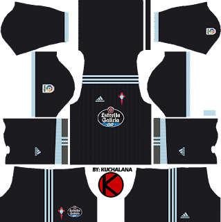 Celta Vigo Kits 2017/18 - Dream League Soccer