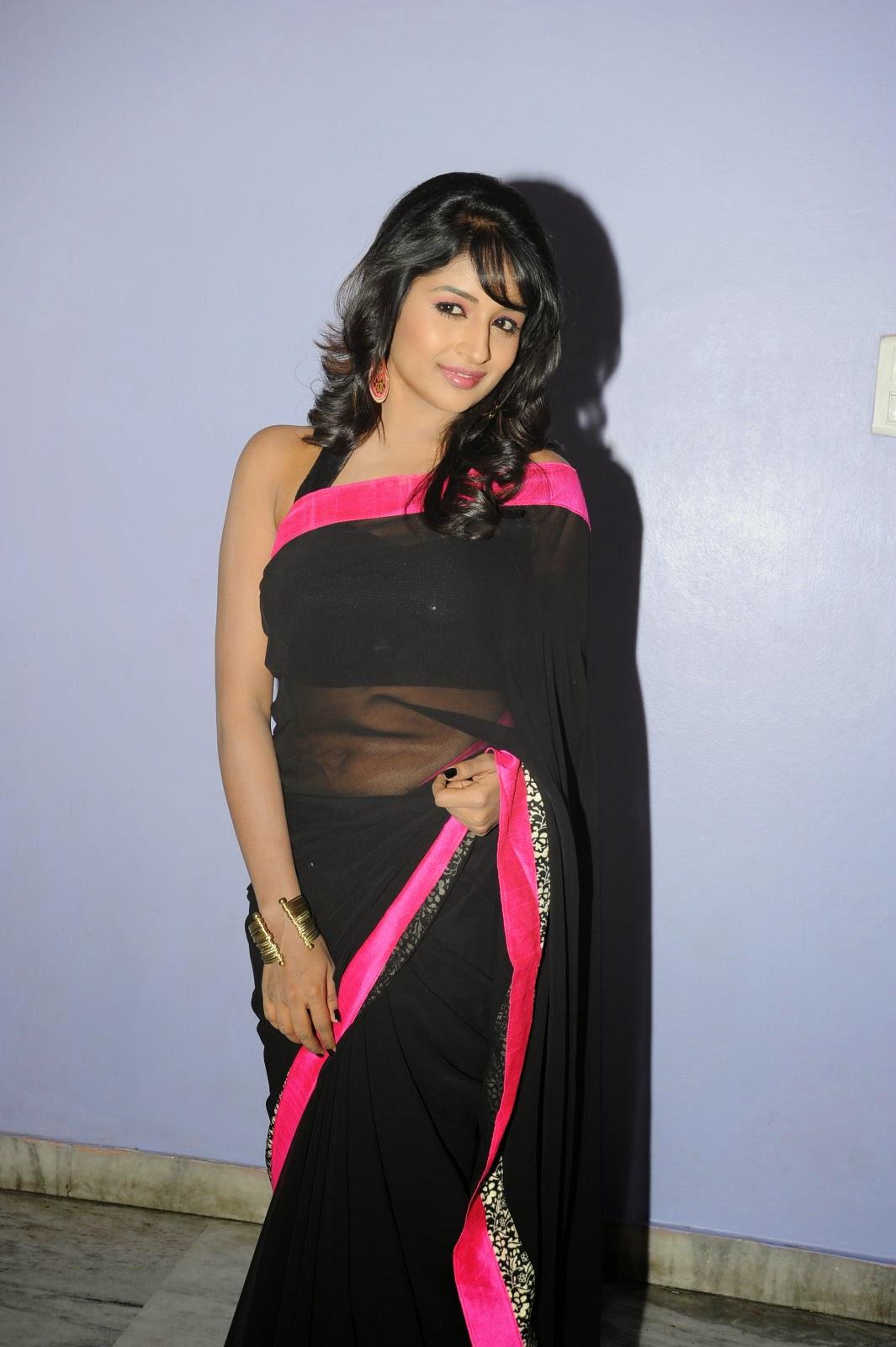 Isha Ranganath glam pics in saree-HQ-Photo-5