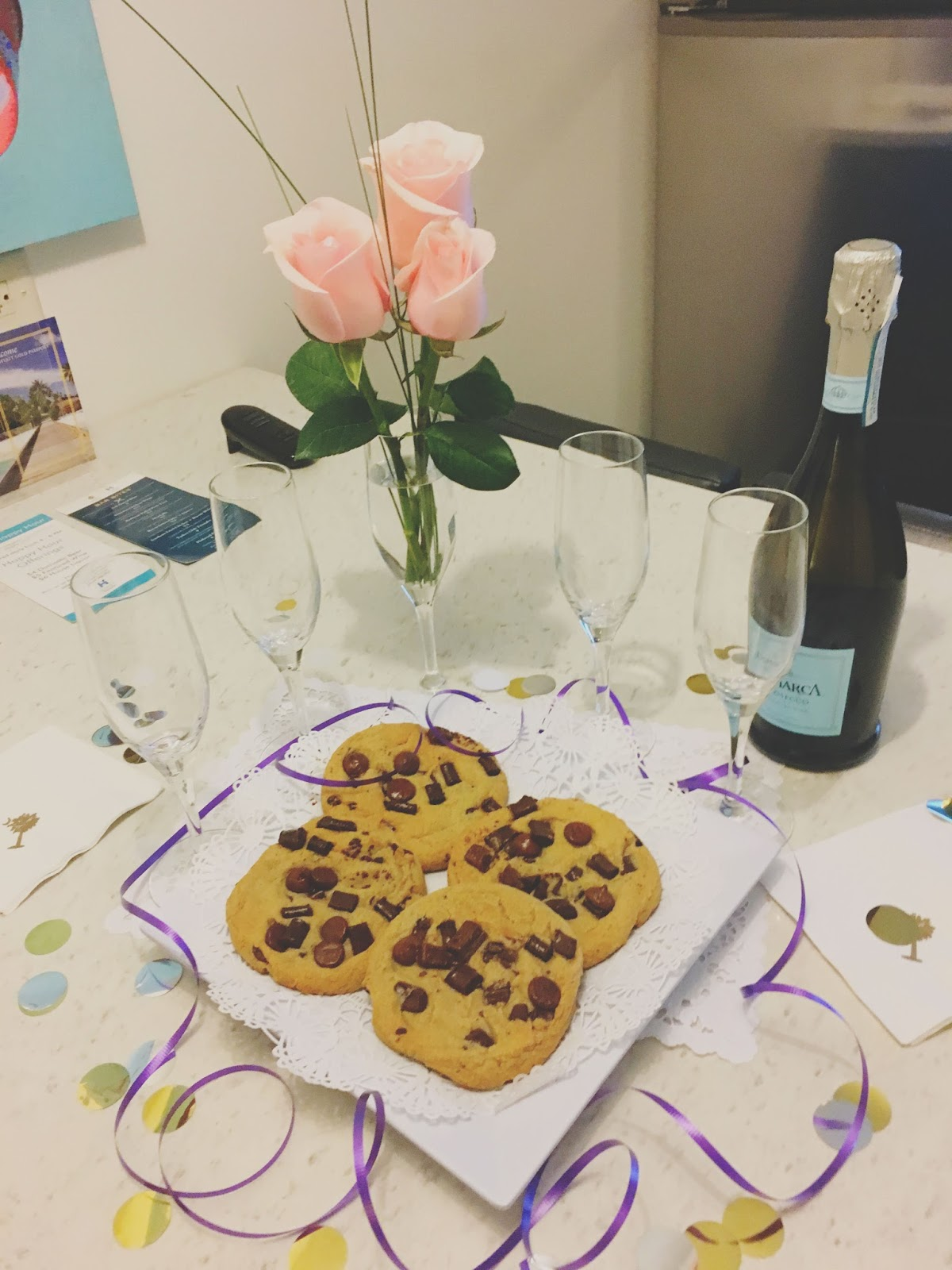 Cookies and champagne in Charleston, South Carolina