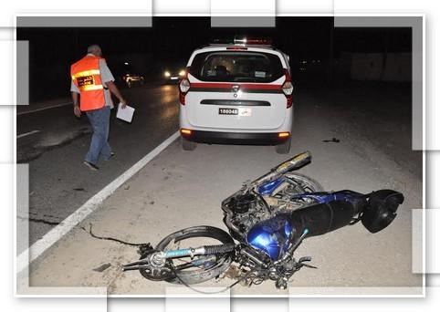"""حادثة سير تودي بحياة سائق دراجة بـ""""أغواطيم"""""""