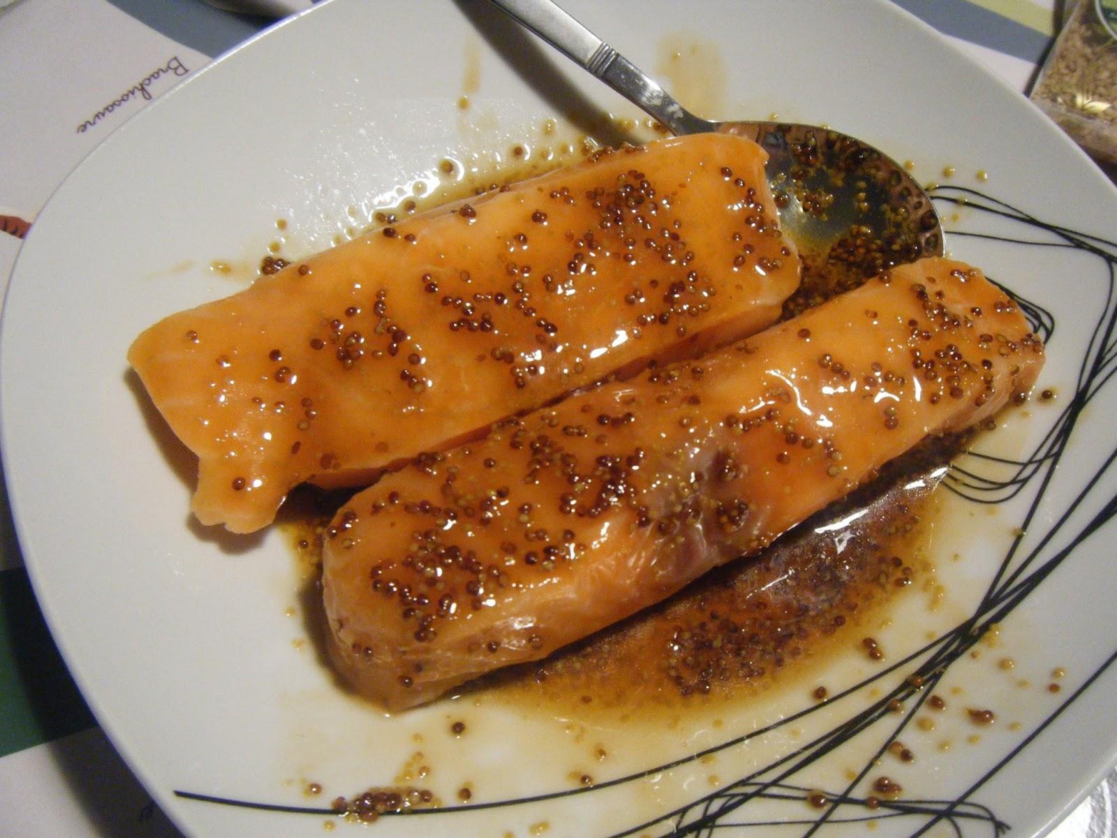Les taratatas de sandra cuisine saumon miel soja s same for Cuisine 9269