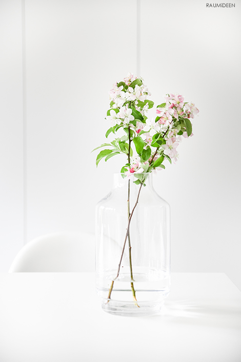 Ich dekoriere mit Apfelblütenzweigen und feiere Kirschblüten-Hanami