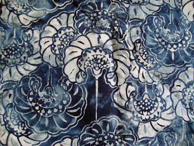 cotton batik fabric, design inspiration for carving a rubber stamp