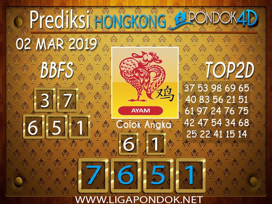 Prediksi Togel HONGKONG PONDOK4D 02 MARET 2019
