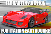 ferrari for italian earthquake