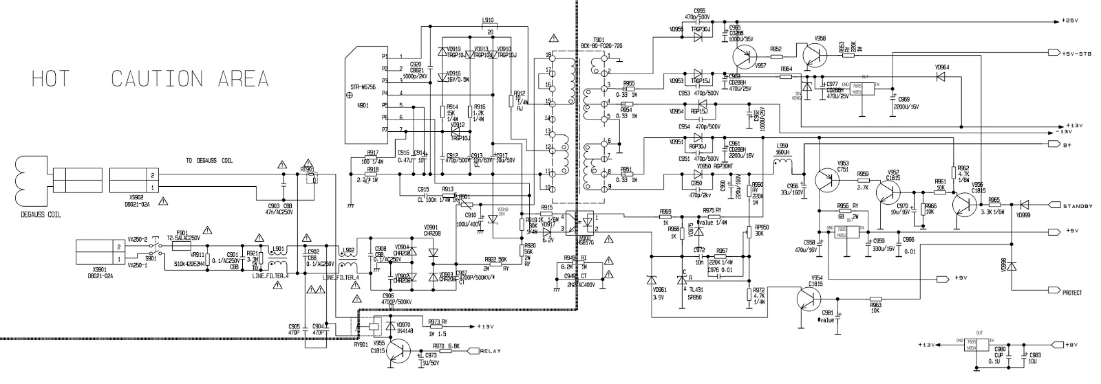 Welcome Strw 6756 Tv Power Supply Smps Circuit Diagram And Or Schematic