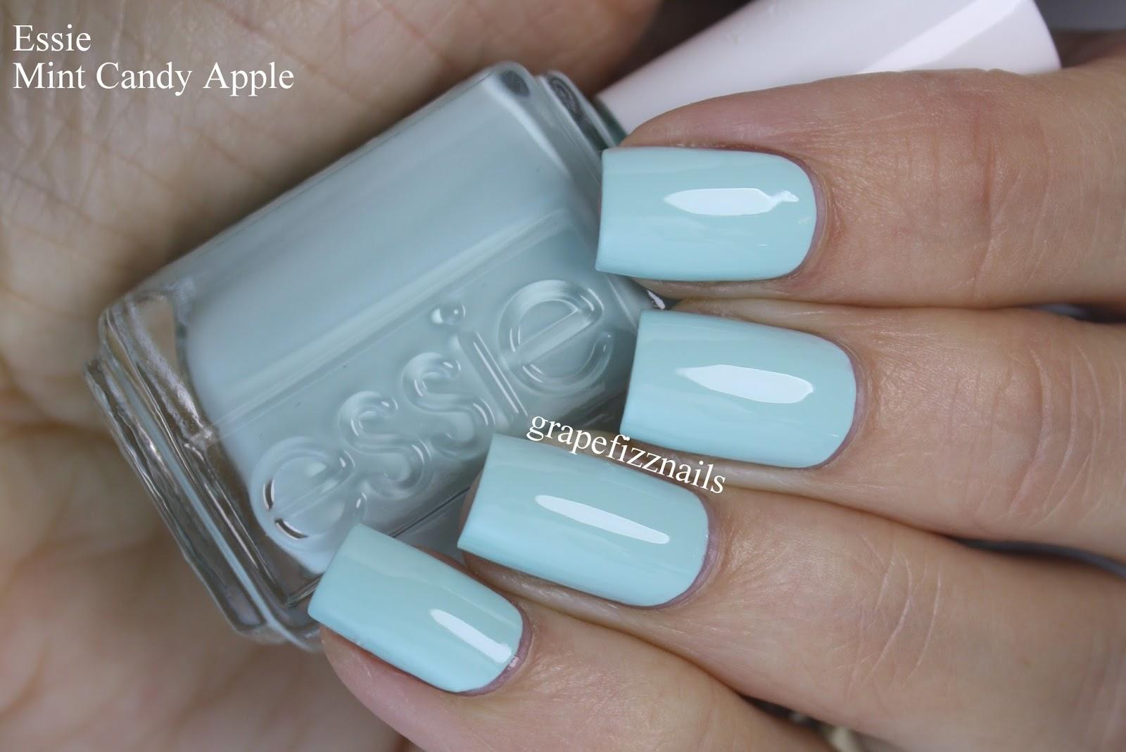 Grape Fizz Nails: Essie Mint Candy Apple