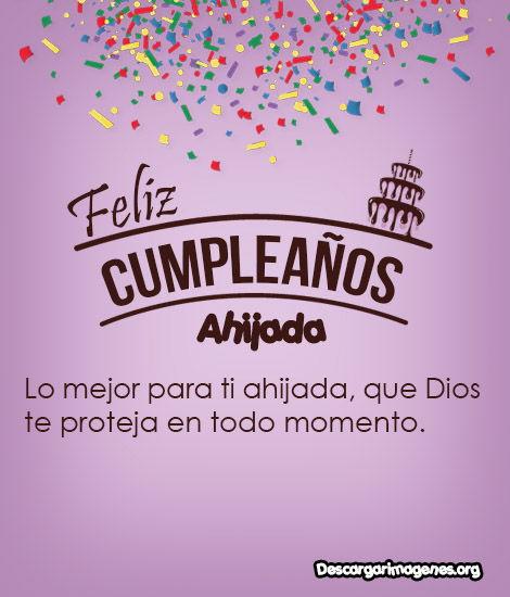 Feliz cumpleaños ahijada.