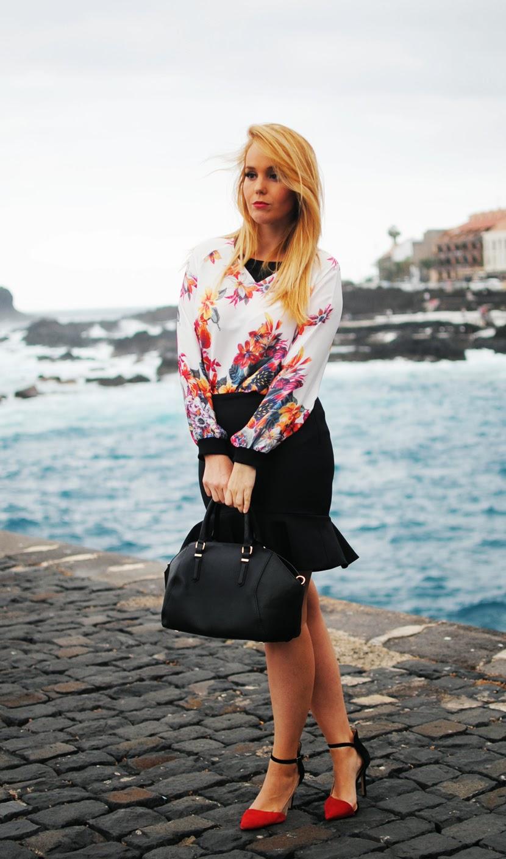 nery hdez, persunmall, persunmall blogger, falda trompeta, floral print