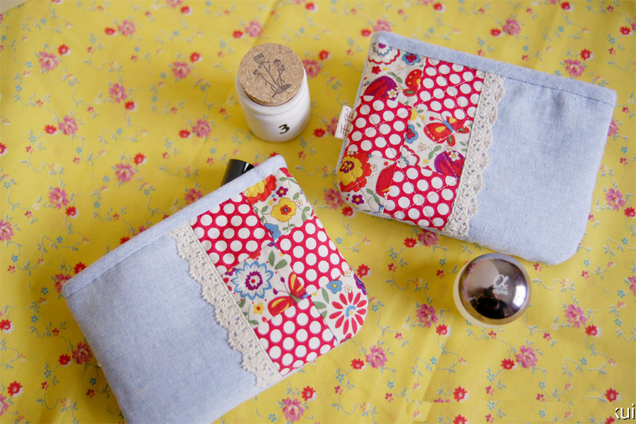 How to sew a fabric pouch. Make A Small Coin Purse. DIY tutorial