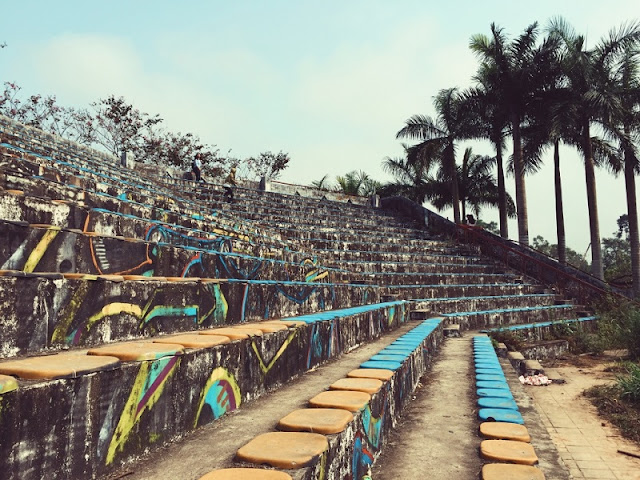 Haunting feel but attractive of the abandoned park in Hue 1