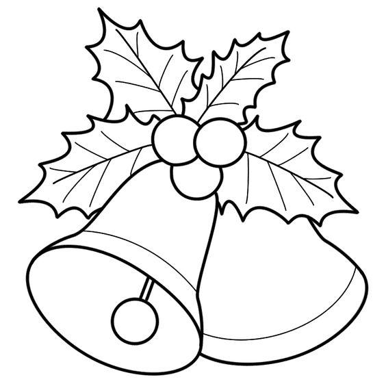 Tranh tô màu chuông giáng sinh