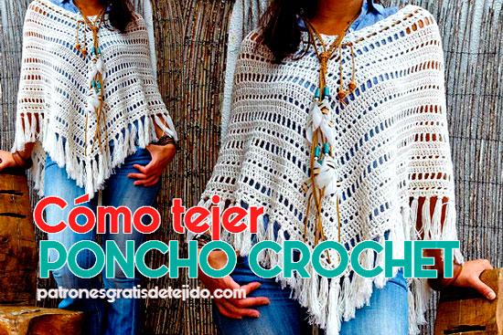 Cómo Tejer un Poncho Fácil y Moderno / Paso a paso | Crochet y Dos ...
