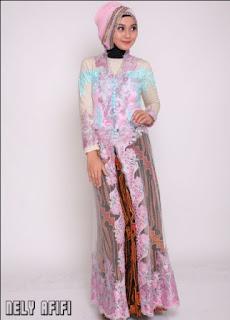 Model Gaun Kebaya Batik Muslim