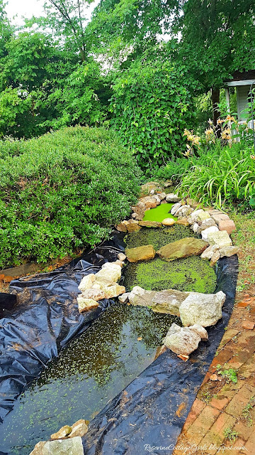 #DIY #River #WaterGarden #WaterFeature #Waterfall #Cottage #Garden #Ponds