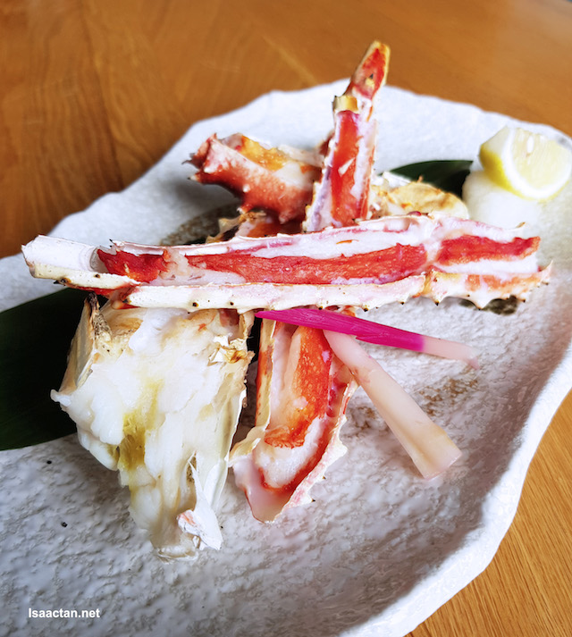 Tarabi Gan - Grilled King Crab with Salt