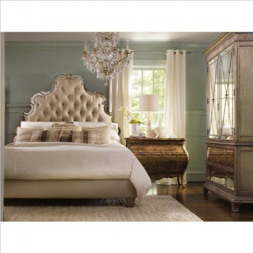Hollywood Regency Style Bedroom Furniture Tufted Regal Bed