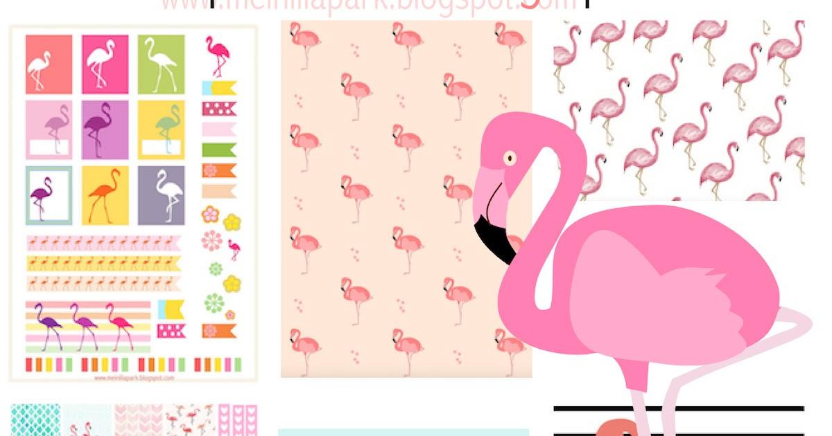 free flamingo printables - flamingos