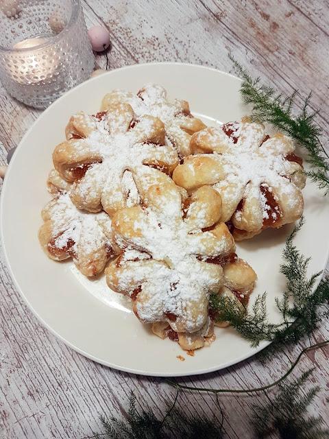 joulu joulutorttu lumihiutale lumihiutaletorttu leivonta joulunodotus marmeladi