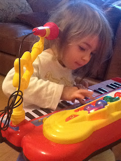 eldest on her keyboard