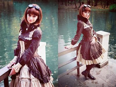 goggles corset dress ladies clothing fashion