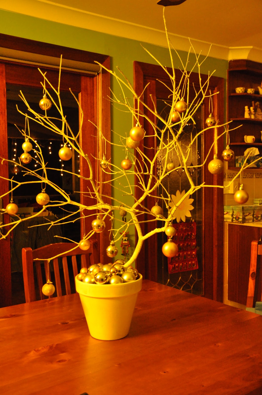 Christmas Branch Decoration Ideas.Craft To The Rafters Sneak Peek Christmas Branch Centerpiece