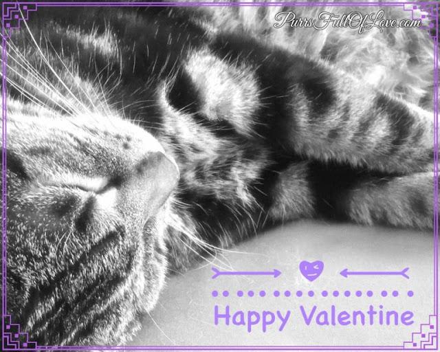 Black and White Valentine Card