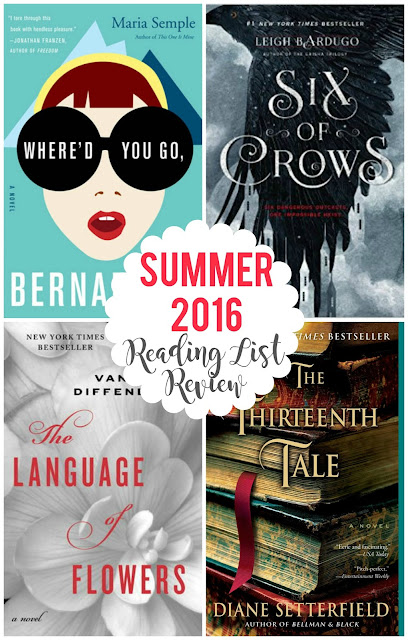 Reviews and ratings on each of the books on my summer 2016 reading list