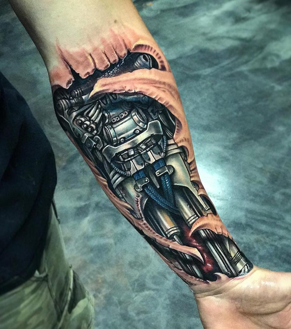 Biomechanical Forearm Tattoo | Best Forearm Tattoos - Cool Ideas And ...