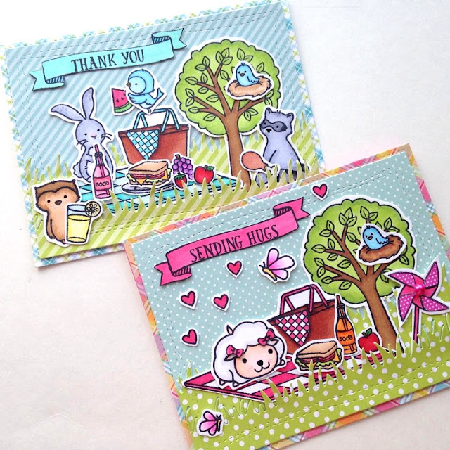 Sunny Studio Summer Picnic Card (mixed with other manufacturer's sets) by Ashley
