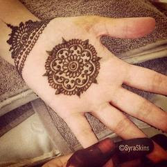 Middle Hand Mehndi Designs