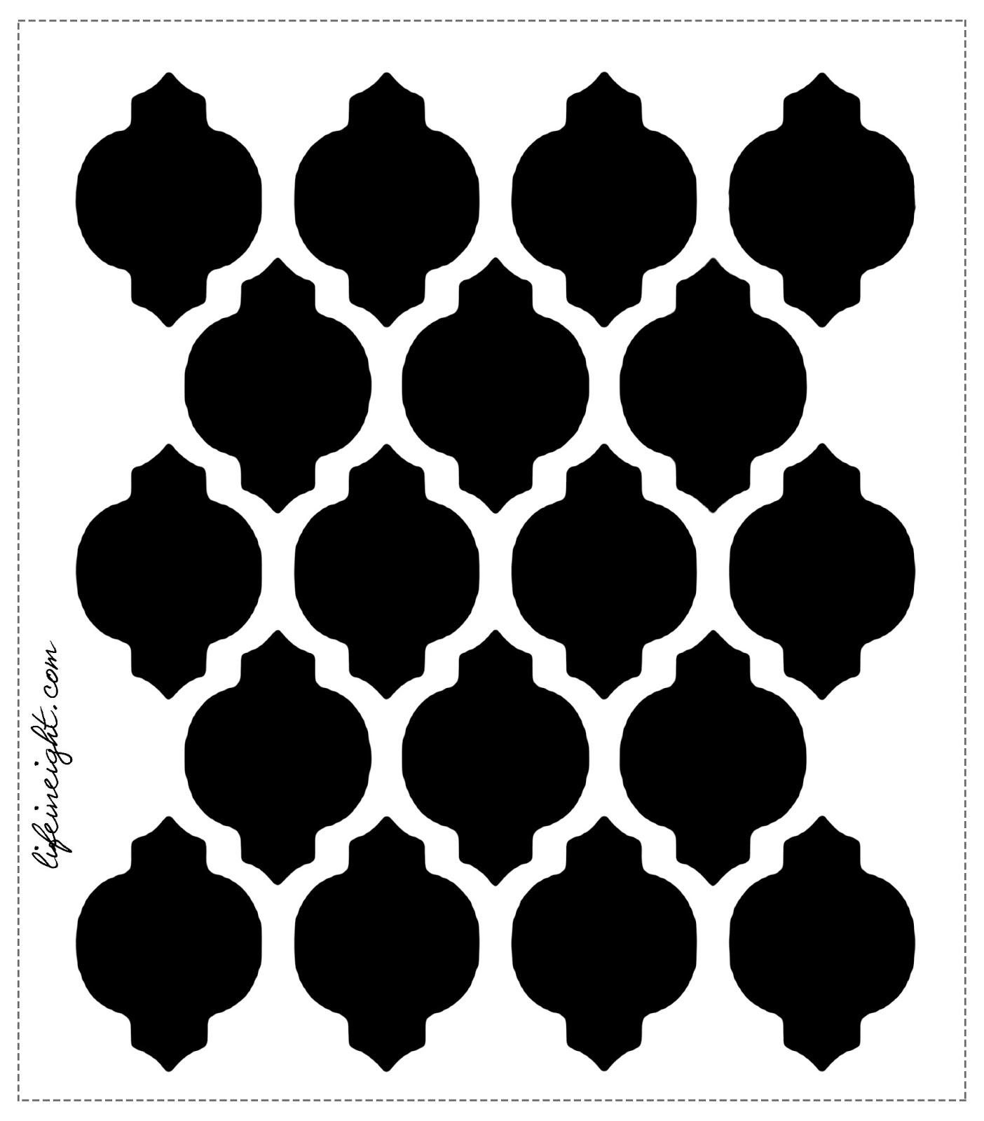 En mi Pinterest ten  237 a esto pineado   pero la idea de Gaby  la chica    Quatrefoil Pattern Stencil