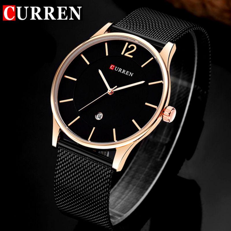 2916491cd97f ... primeras marcas de lujo ultra delgado reloj de cuarzo de los hombres de  negocios de acero inoxidable de malla correa impermeable reloj 8231.