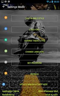 BBM Mod Whatsapp Valentino Rossi 46 Part 1 v3.0.1.25 Apk Terbaru