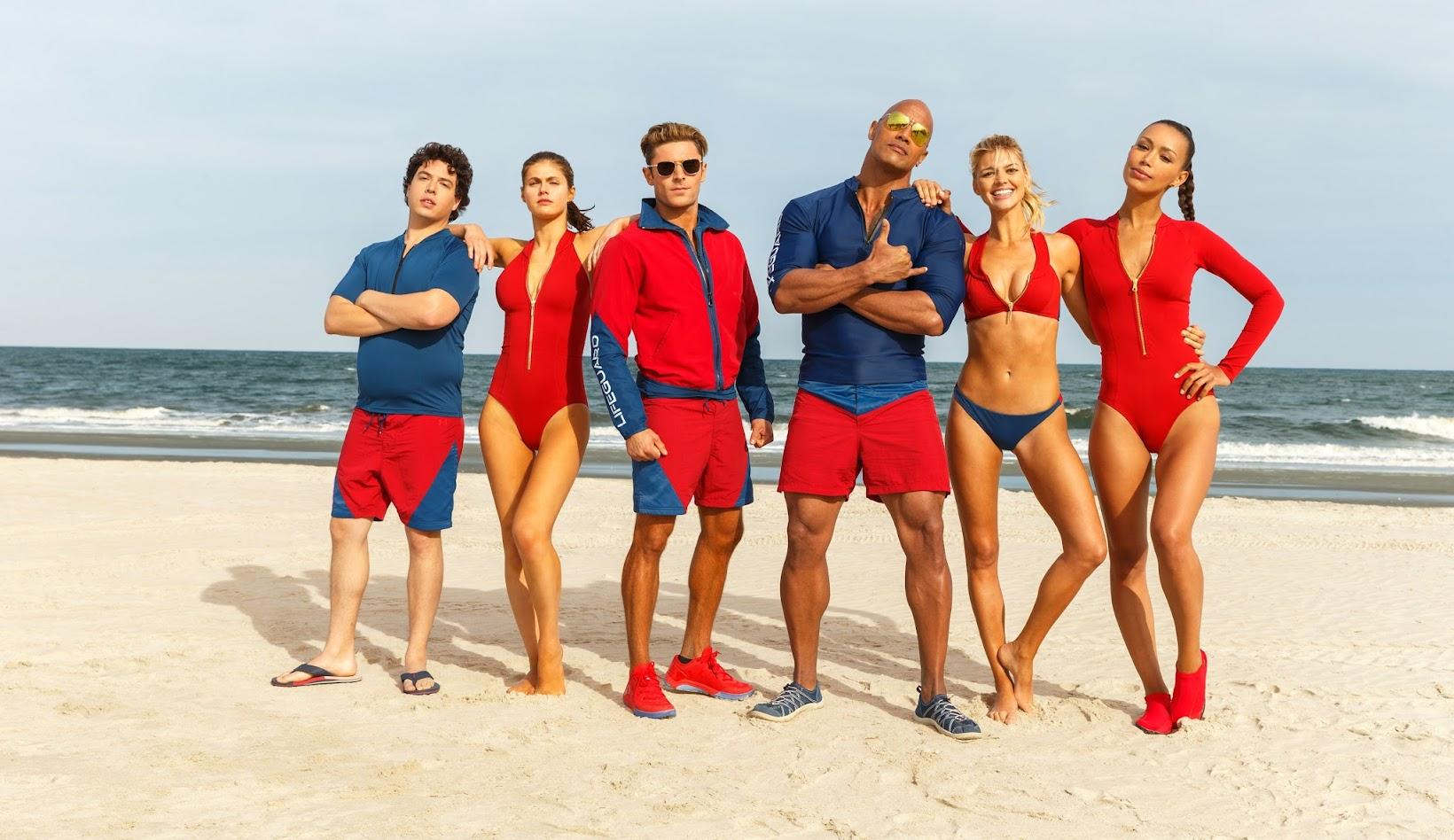 """As praias estão seguras no 1º trailer de """"Baywatch"""", com Dwayne Johnson e Zac Efron"""