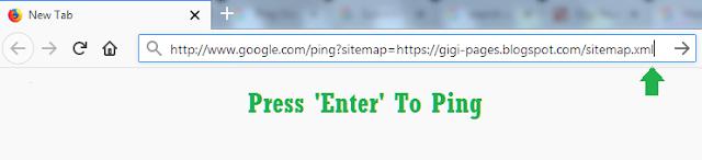 Ping Google