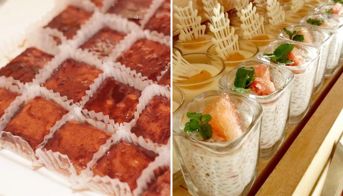 (L) Mangosteen Peanut Oat Bars (R) Pomelo Chia Coconut Pudding