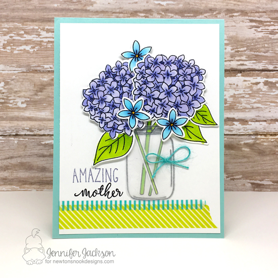 Amazing Mother Card by Jennifer Jackson | Lovely Blooms Stamp set by Newton's Nook Designs #newtonsnook