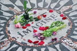 John Lennon's memorial Strawberry Fields by Central Park Rickshaw Tours