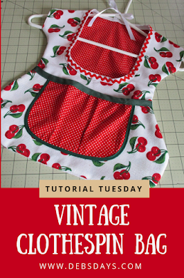Homemade Vintage Dress Clothespin Bag Sewing Project