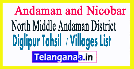 Diglipur Tahsil Villages Codes North Middle Andaman District Andaman and Nicobar Islands State