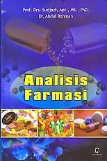 ajibayustore Judul Buku : ANALISIS FARMASI Pengarang : Prof. Drs, Sudjadi, Apt., MS., Ph.D. Penerbit : Pustaka Pelajar