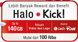 Tarif Dan Cara Daftar Paket Halo Kick Telkomsel