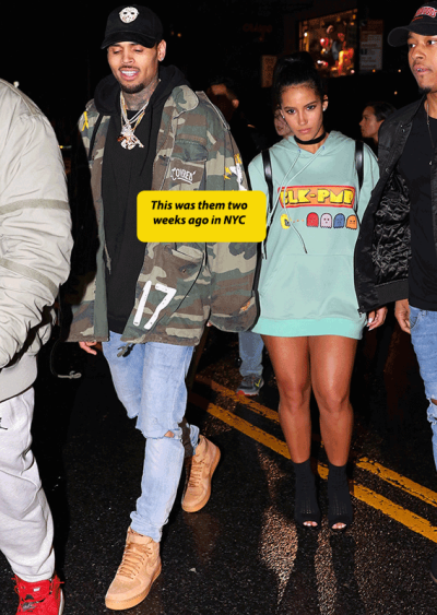 Chris Brown now has a steady girlfriend