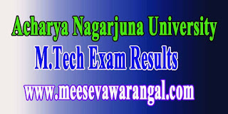 Acharya Nagarjuna University M.Tech Regular Results