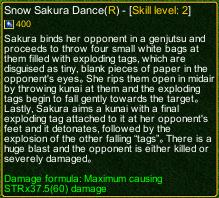 naruto castle defense 6.0 Snow Sakura Dance detail