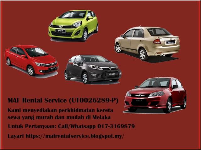 Perkhidmatan Sewa Kereta Fuad Car Rental di Melaka dan Ayer Keroh