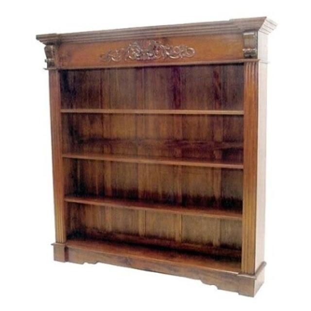 rak buku sederhana kayu jati