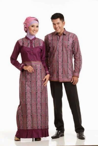 Baju pasangan muslim yang serasi